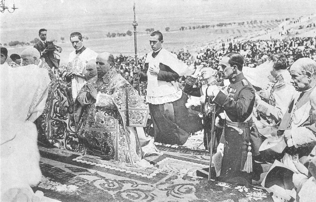 Alfonso XIII consagró España al Sagrado Corazón de Jesús hace 99 años.