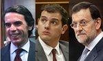 Aznar quiere una alternativa liderada por Rivera (Ciudadanos), pero ni Rajoy ni el PP están por la labor.