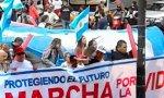 Marcha a favor de la vida en Argentina debido al debate sobre la ley del aborto en el Senado.
