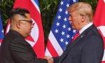 Kim Yong un y Trump se dan la mano