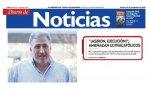 """'Diario de Noticias' mintiendo sobre los gritos de los católicos: en realidad, gritaron """"Asirón, fuera exposición"""" y """"dimisión""""."""