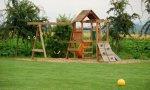 Parque infantil vacío.