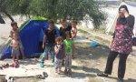 Campo de inmigrantes en Lesbos.