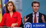 Soraya y Casado compiten por hacerse con el liderazgo del PP.