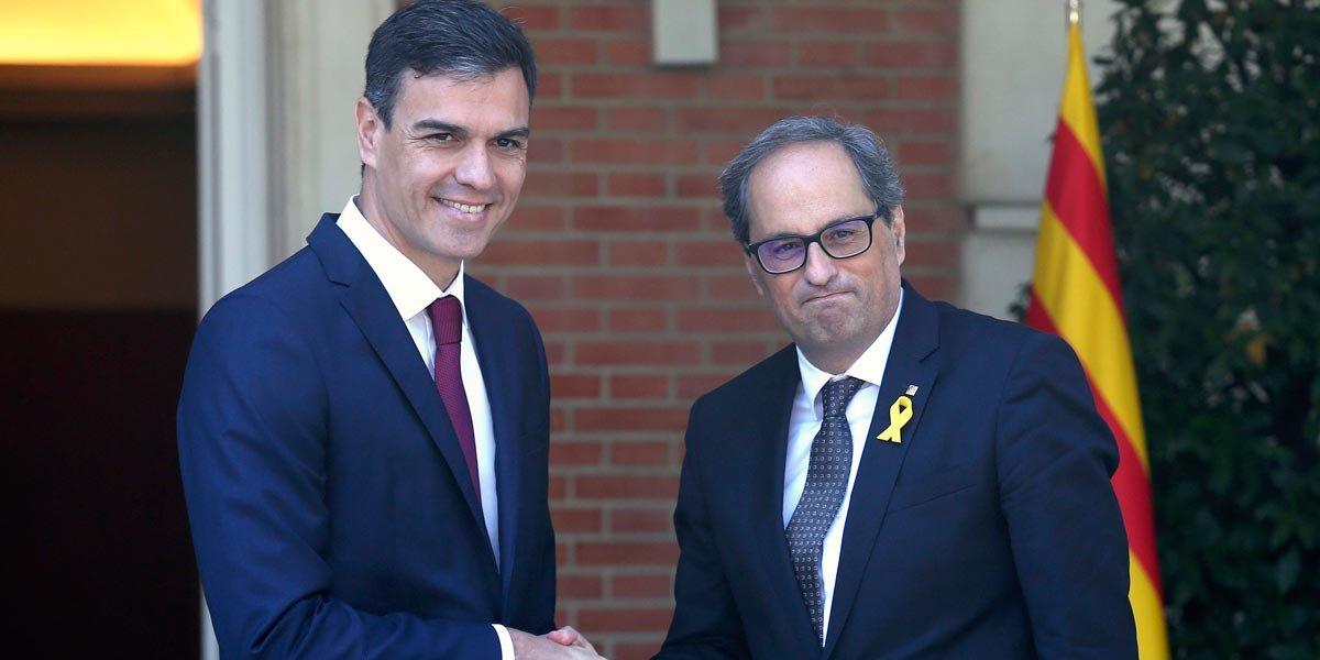 Pedro Sánchez cede ante Carlos Puigdmeont y Kim Torra