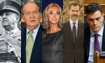 Franco, Juan Carlos, Corinna, Felipe VI y Pedro Sánchez.