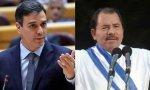 Pedro Sánchez y Daniel Ortega.