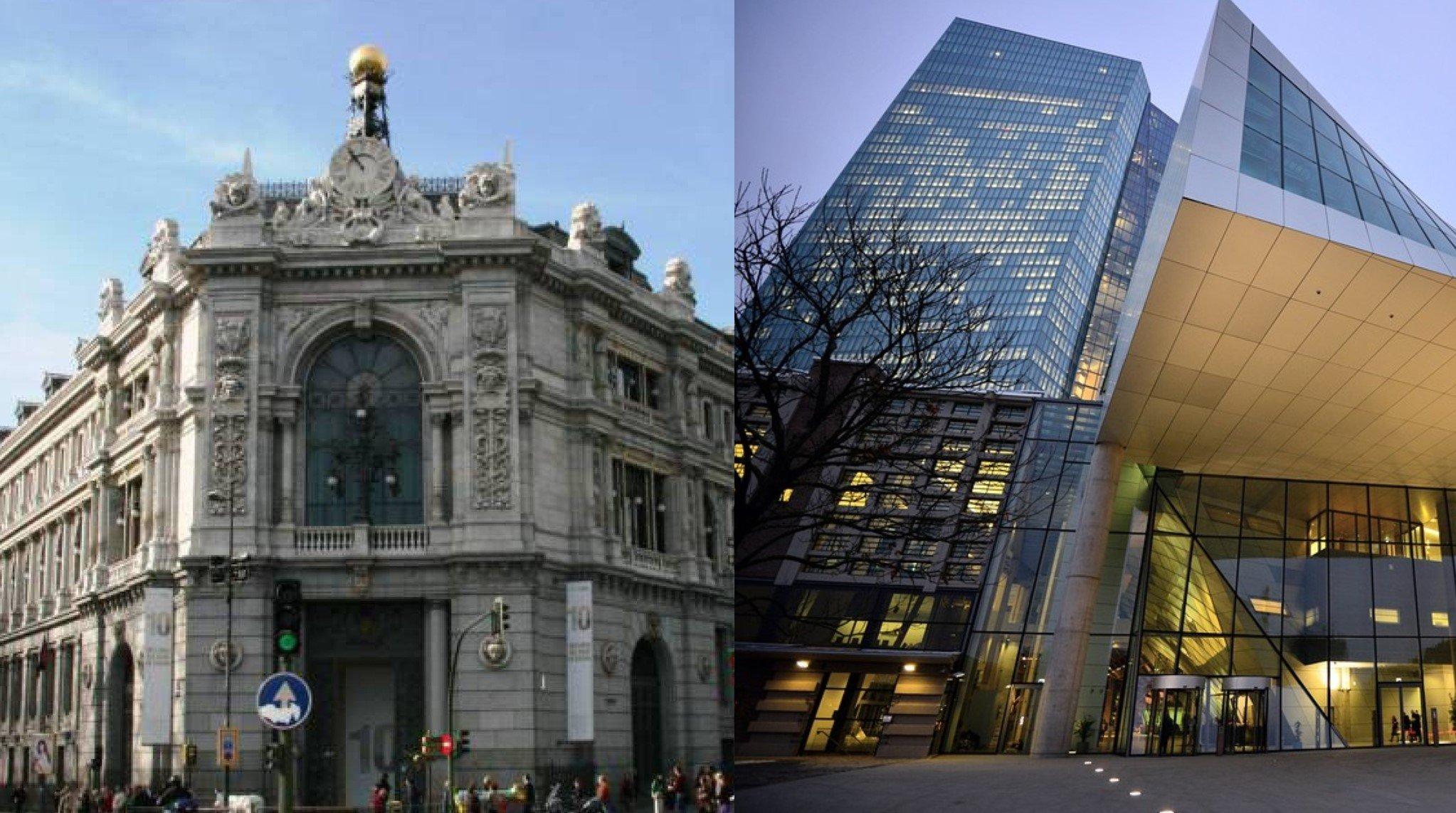 Banco de España y Banco Central Europeo.