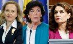 Las ministras del Gobierno Sánchez, Calviño, Celaá y Montero. Podemos y los separatistas catalanes quienes han tumbado el nuevo techo de gasto
