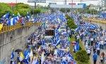 Manifestación en defensa de la Iglesia en Nicaragua.
