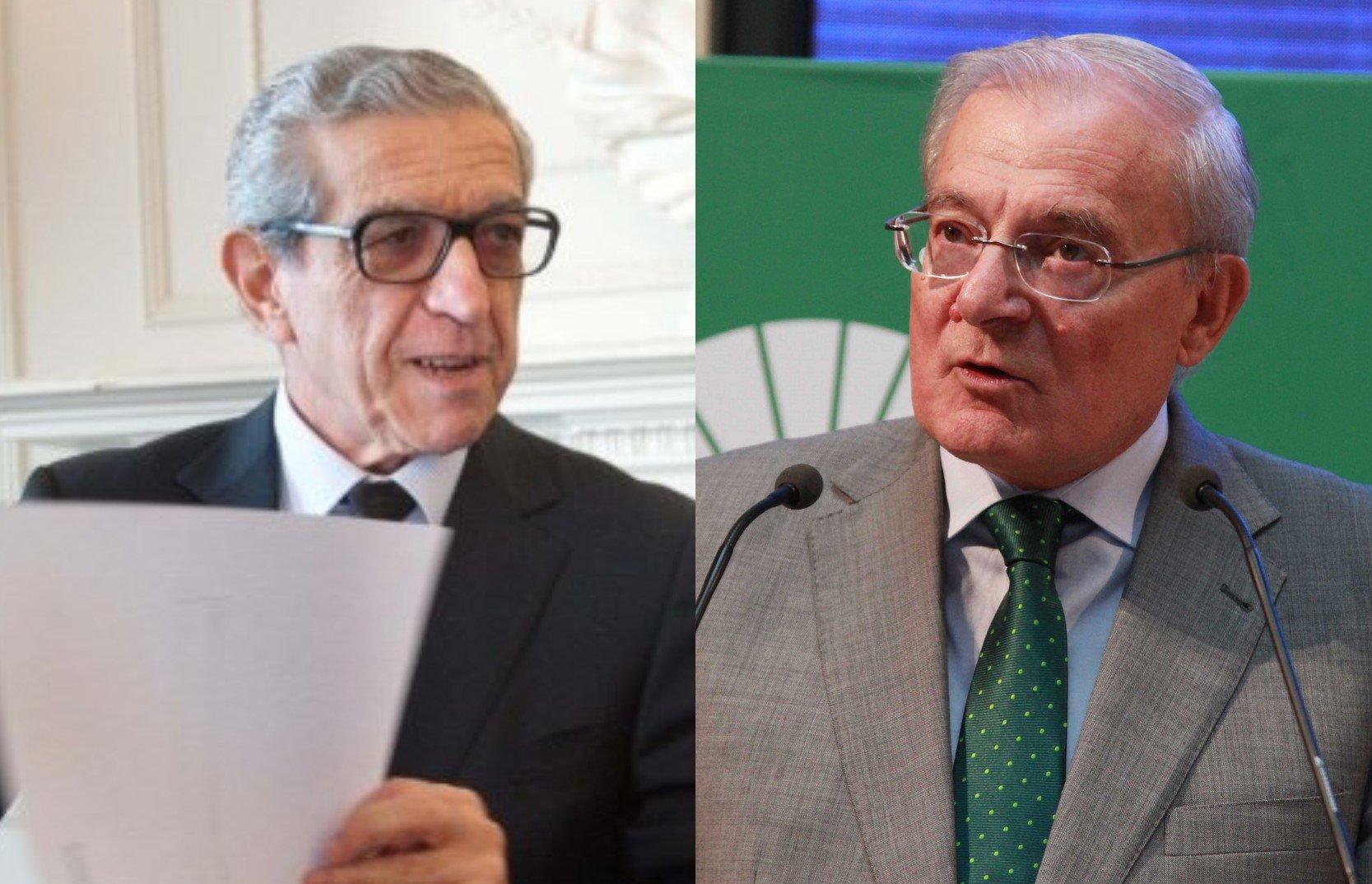 Braulio Medel, presidente de la Fundación Unicaja y Manuel Azuaga, presidente de Unicaja Banco