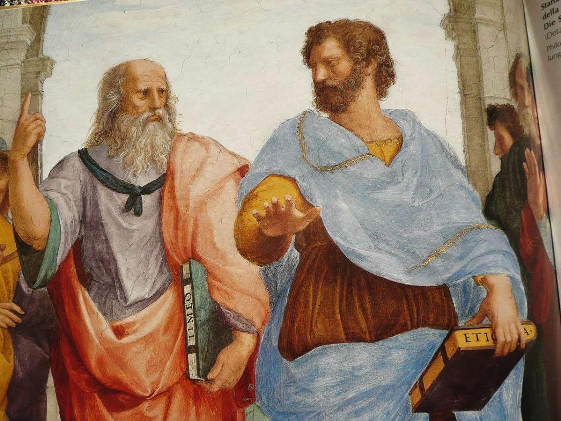 """Mientras la 'República' de Platón no tuvo ninguna posibilidad, para Aristóteles la felicidad era el """"sumo bien""""."""