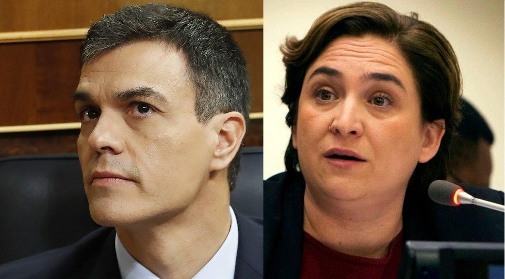 Sánchez y Colau.