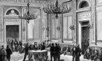 Salón de conferencias del Congreso de los Diputados. Grabado de la Ilustración Española y Americana fechado en 1872