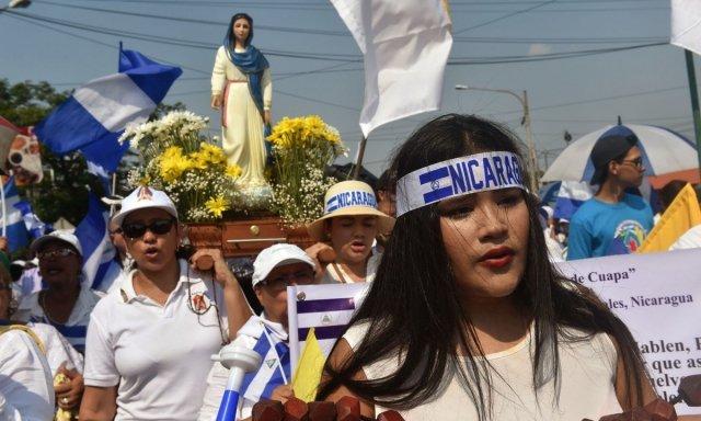 Marcha católica da Nicarágua pelo fim da violência no país