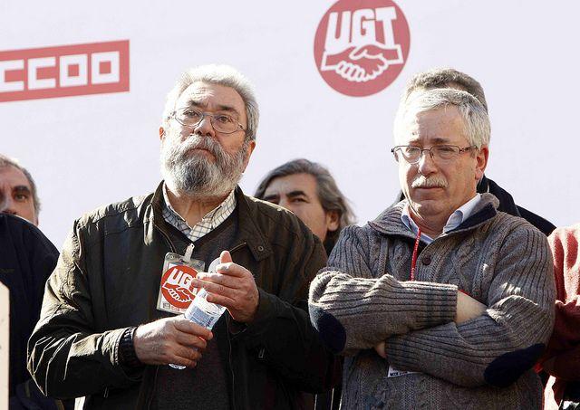 Los sindicatos hacen un guiño a Podemos y proponen una renta mínima de 426 euros al mes