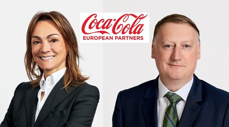 Sol Daurella y Damian Gammell, presidenta y CEO de 'megaembotelladora' europea de Coca-Cola