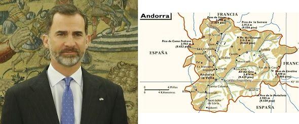 Para que el rey de España sea copríncipe de Andorra se debe modificar la Constitución del Principado
