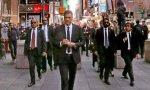 Sánchez, al más puro estilo Reservoir Dogs, se pasea por Nueva York
