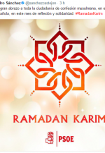 La doble vara de medir de Sánchez: se olvida de su laicidad cuando de felicitar el Ramadán se trata