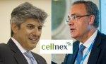 El italiano Marco Patuano, presidente no ejecutivo de Cellnex, y el español Tobías Martínez, CEO