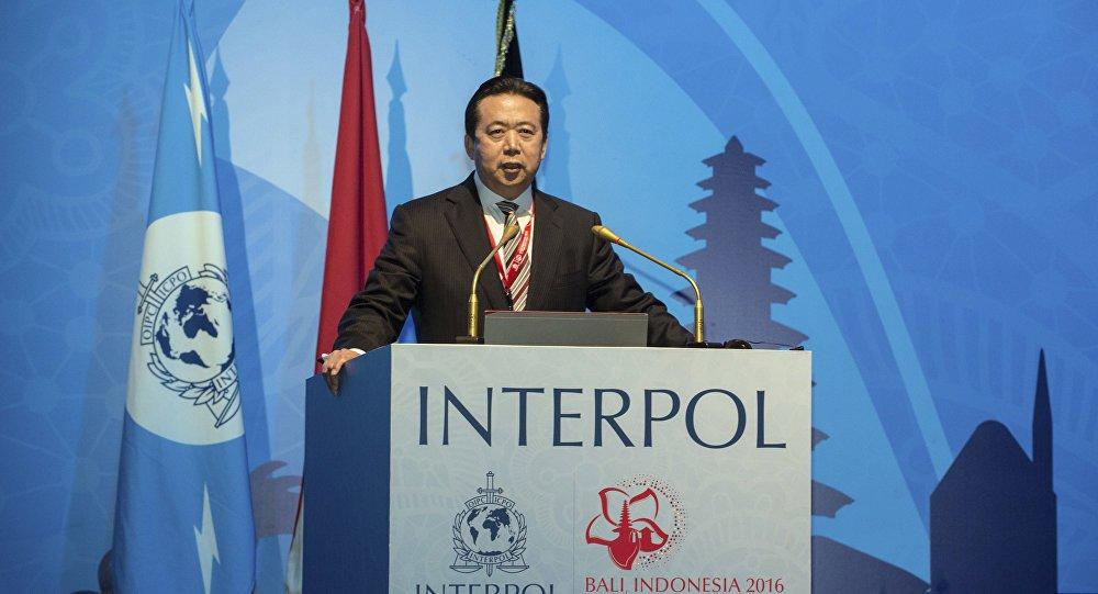 El ya expresidente de Interpol, Meng Hongwei