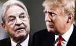 El millonario húngaro Soros y el presidente de Estados Unidos, Donald Trump