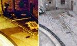 La alfombra floral en honor de la Virgen del Rosario, patrona de La Coruña, solo pudo contemplarse dos horas y de madrugada