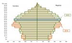 Pirámide de población en España entre los años 2018 y 2033