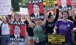 Manifestantes pro choice protestan en contra del juez Kavanaugh