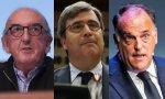 Jaume Roures, Miguel Cardenal y  Javier Tebas