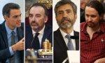 Pedro Sánchez, Manuel Marchena, Carlos Lesmes y Pablo Iglesias