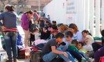 Migrantes centroamericanos llegan a México.