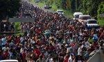 La caravana que partió de San Pedro Sula