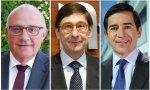 Josep Oliu (Sabadell), José Ignacio Goirigolzarri (Bankia) y Carlos Torres (BBVA)