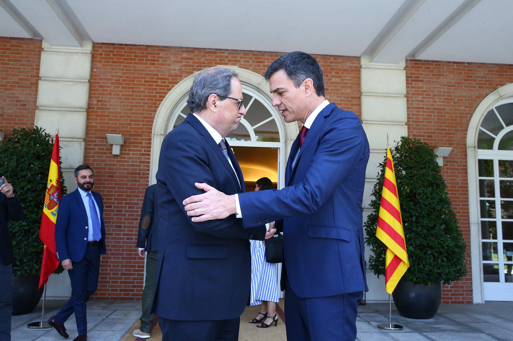 Sánchez abrirá una mesa de diálogo con los independentistas catalanes