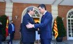 Quim Torra y Pedro Sánchez, cuando el catalán le visitó en La Moncloa