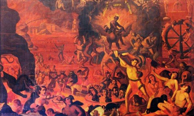 Infierno, de Hernando de la Cruz (1620). Quito, iglesia de la Compañía de Jesús