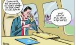 Fantástica viñeta de Puebla: refleja lo mucho que le gusta a Sánchez el avión oficial