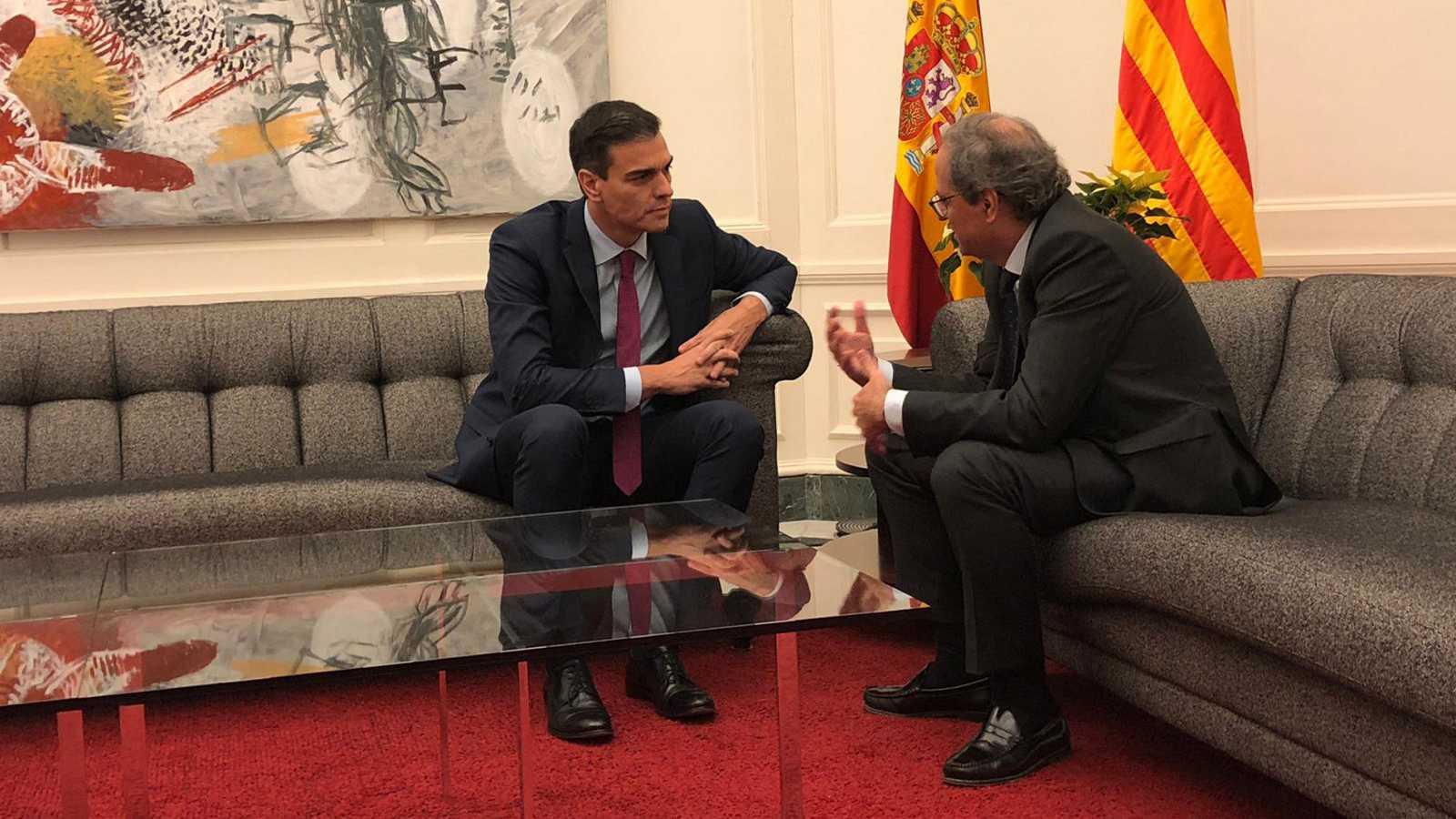 Sánchez y Torra se reunirán el 26 de febrero por primera vez en la mesa de diálogo 'España-Cataluña', nuevo pago por la investidura