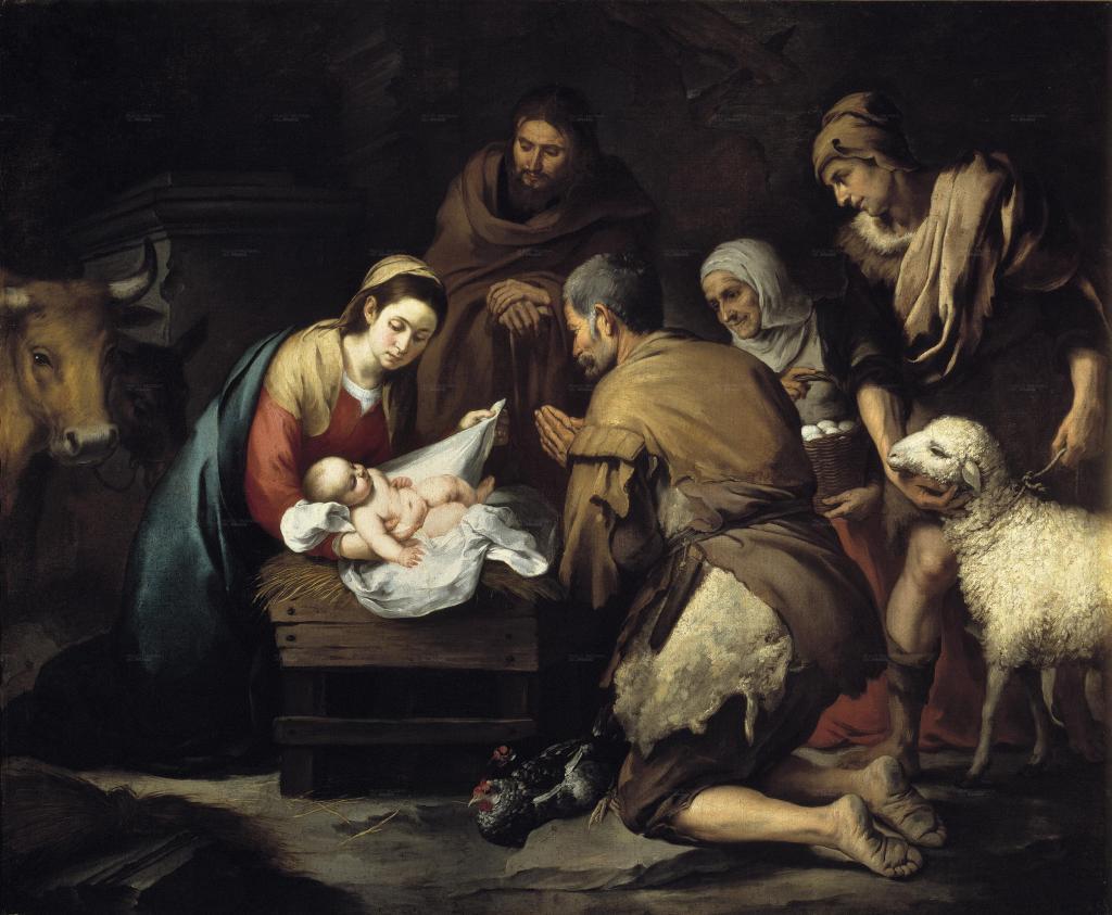 Adoración de los pastores, de Bartolomé Esteban Murillo, pintor del que este año se conmemoran 400 años de su nacimiento