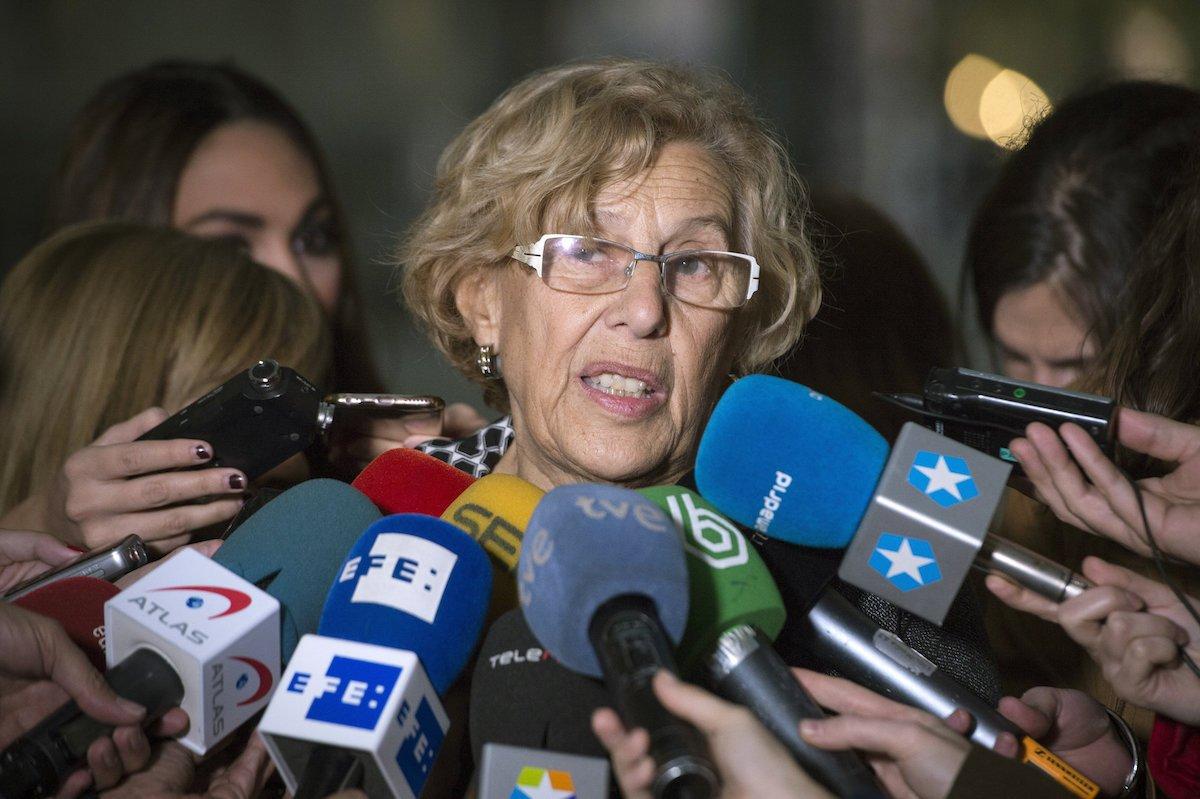 """Manuela Carmena se viene arriba y no descarta presentarse como alcaldesa otra vez... donde dije """"digo""""..."""