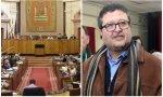 El Parlamento andaluz y Francisco Serrano, líder de VOX