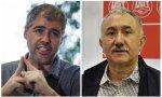 Unai Sordo (CCOO) y Pepe Álvarez (UGT)
