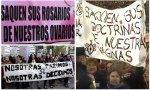 Pancartas con las ideas fuerza del feminismo