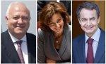 Miguel Ángel Moratinos, Audrey Azoulay y José Luis Rodríguez Zapatero