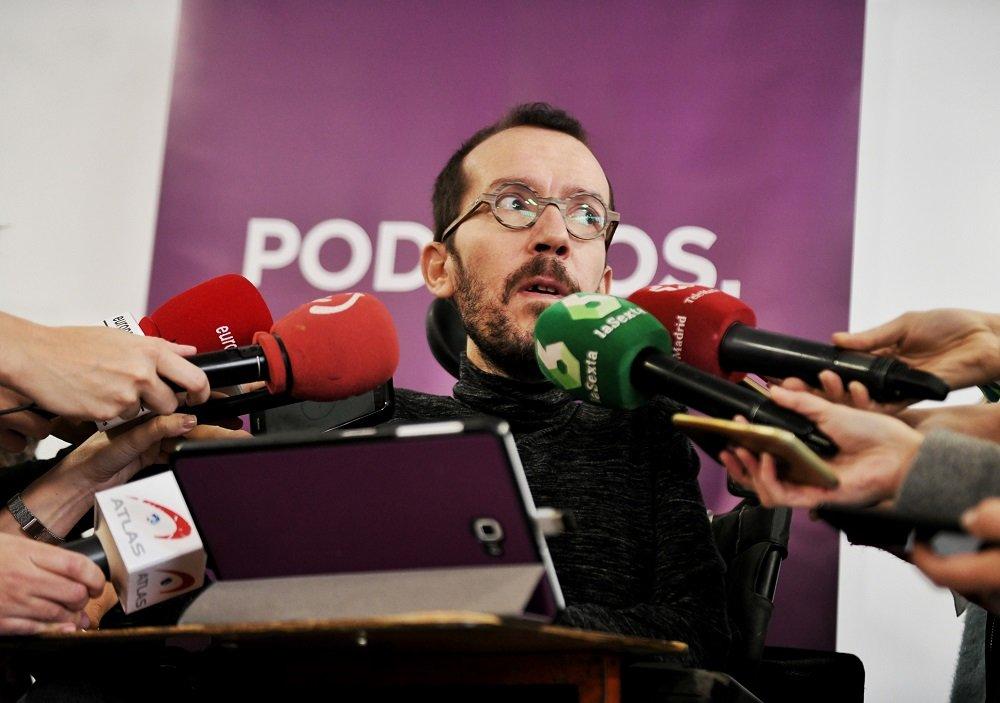 Pablo Echenique es el portavoz de Podemos