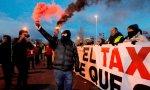La huelga del taxi deja cargas policiales, 11 heridos y un detenido en Madrid este miércoles