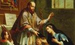 San Francisco entrega la Regla a Santa Juana Francisca de Chantal. Lienzo de Janez Valentin