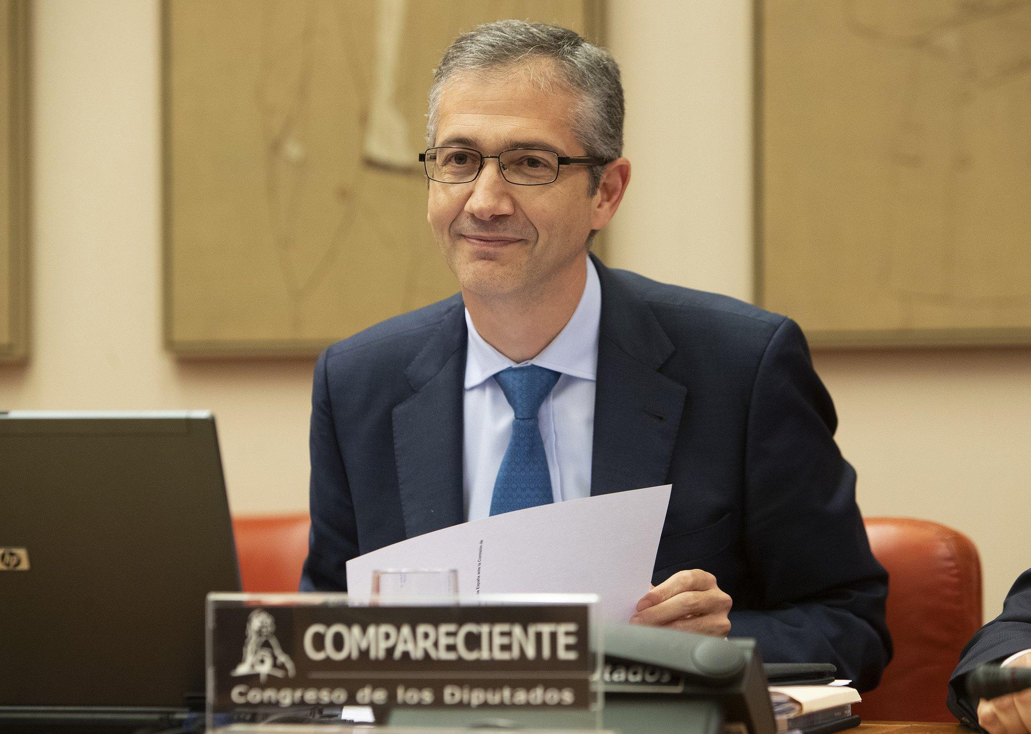 """Hernández de Cos advierte de una """"perturbación sin precedentes"""" en la economía, por mor de la epidemia."""